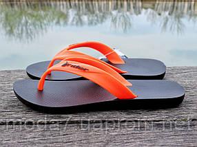 Вьетнамки мужские черные / оранжевые Rider оригинал, фото 3