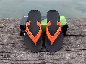 Вьетнамки мужские черные / оранжевые Rider оригинал, фото 2