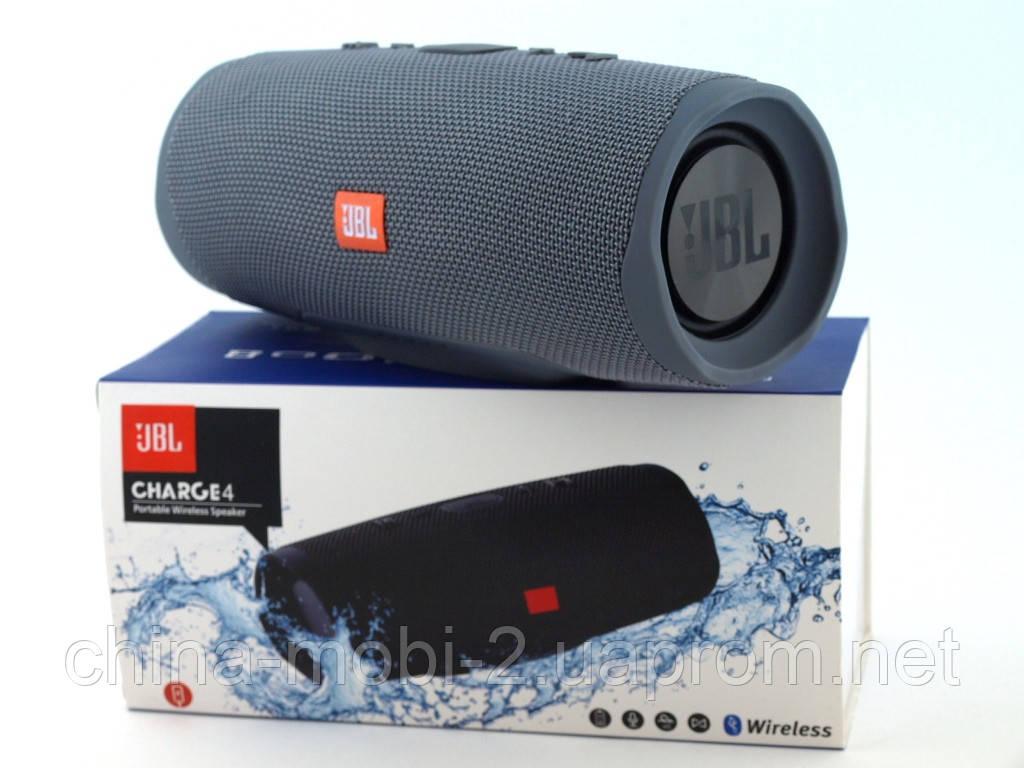 JBL Charge 4+ 20W AAA top реплика, портативная колонка с Bluetooth FM MP3, серая