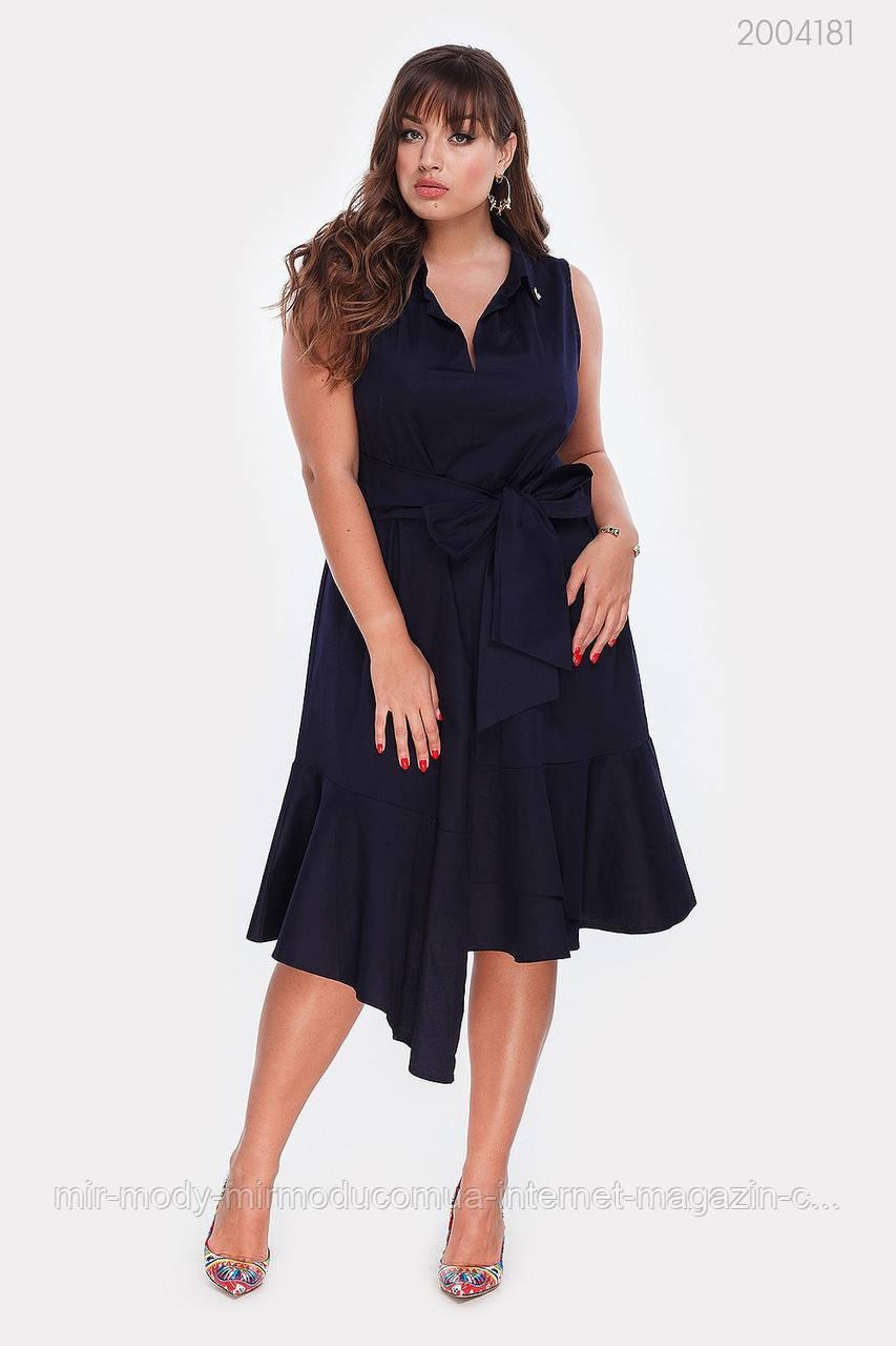 Платье Ольвия (синий) (3 цвета) с 48 по 54 размер (рин)