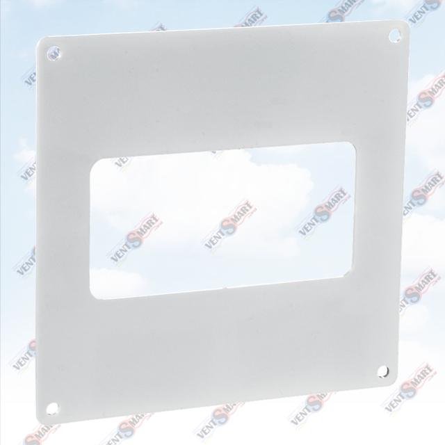 Внешний вид настенной пластины для плоских пластиковых вентиляционных труб ПЛАСТИВЕНТ производства ВЕНТС (Украина)