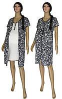 Ночная рубашка и платье халат на молнии 18029 Fashion Patterns Black для беременных и кормящих, р.р.42-56