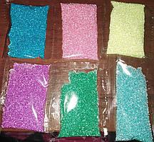 Бульонки,бісер для нігтів набір 6 шт. різних кольорів по 2 грами