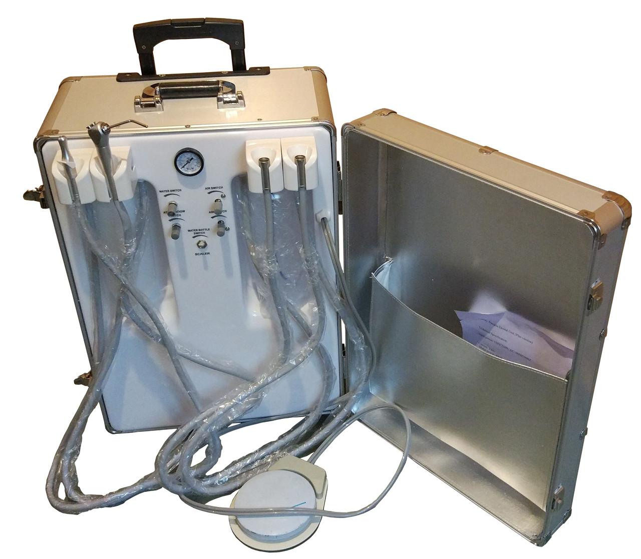 Портативна стоматологічна установка переносна з компресором P24.