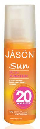 Jason  Натуральное солнцезащитное средство широкого спектра для лица SPF 20 , фото 2