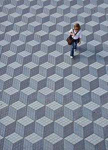 Тротуарная плитка с оригинальным изображением 3D
