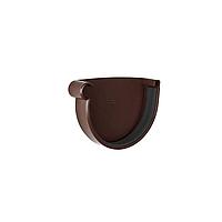 Заглушка желоба левая  NewWay 120  коричневая