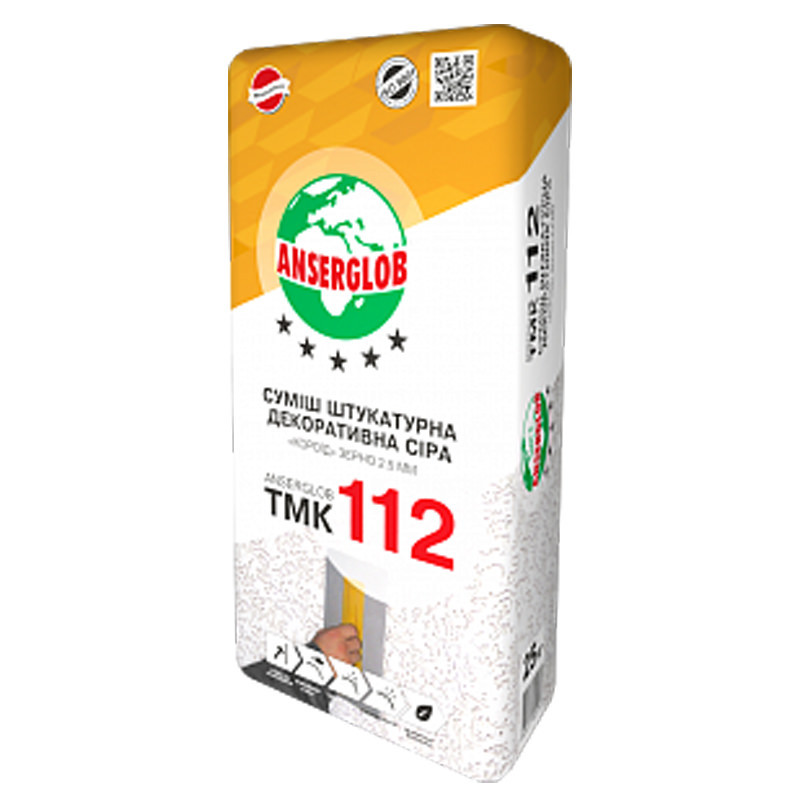 Штукатурка декоративная минеральная Anserglob ТМК 112 короед (2,5мм)