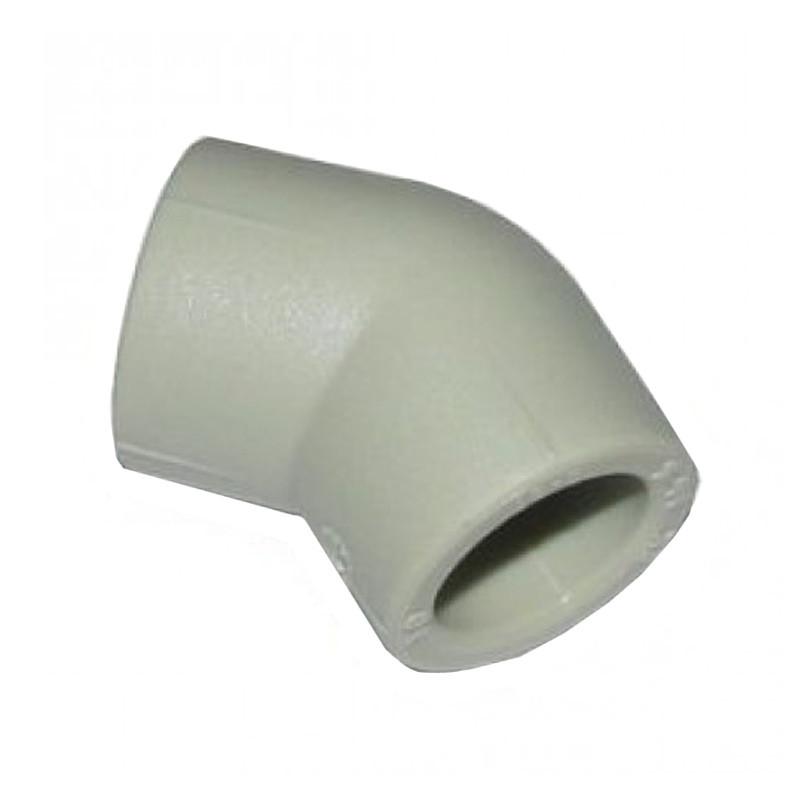 Поліпропіленове коліно Італ 45 (20 мм)