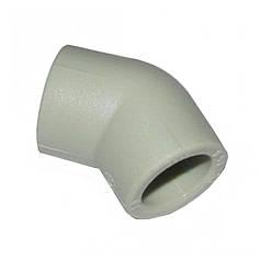 Колено полипропиленовое Итал 45 (20 мм)