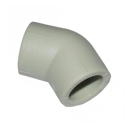 Поліпропіленове коліно Італ 45 (20 мм), фото 2