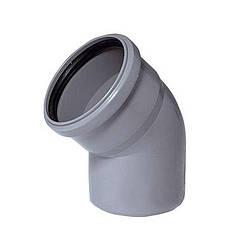 Колено пластиковое СВК 45 (110 мм)