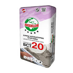 "Штукатурка стартовая ""Anserglob"" ""BCT-20"" (цементно-известковая серая) (25 кг)"