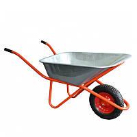 Тачка 1-колёсная (400 мм) 90 л 180 кг (строительная профессиональная)