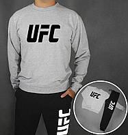 Спортивный костюм UFC (Premium-class) серо-черные
