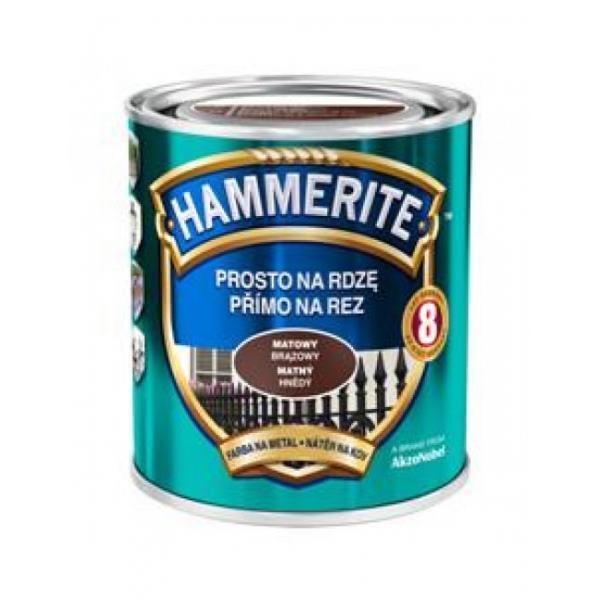 Эмаль HAMMERITE темно-коричневая полуматовая 3 в 1 (2,5 кг)