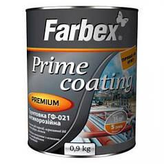 Грунт для металла Farbex ГФ-021 cерая антикорозионная 0,9 кг