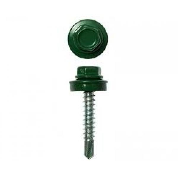 Саморез кровельный 4,8х35мм зеленый RAL 6005