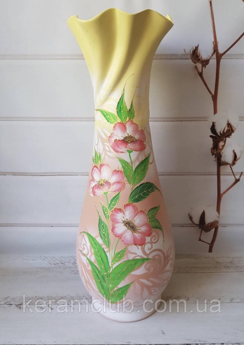 Керамическая напольная ваза Вьюнок