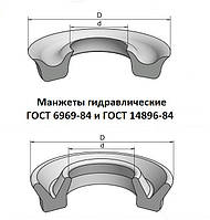 Манжета гидравлическая 45х35х7 ГОСТ 14896-84