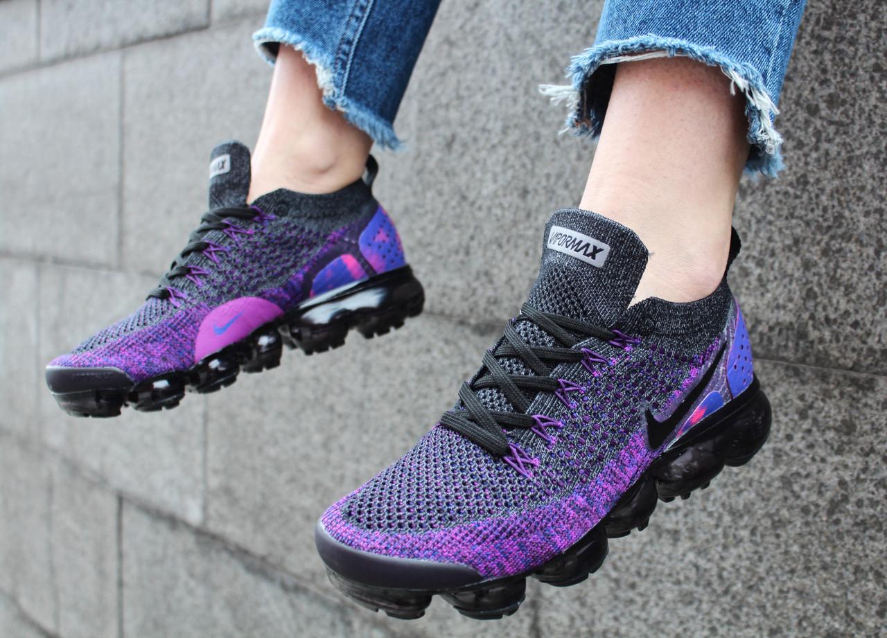 new style 5004b 78d52 Кроссовки женские Nike Vapormax Flyknit 2 Night Purple / 942842-013  (Реплика)