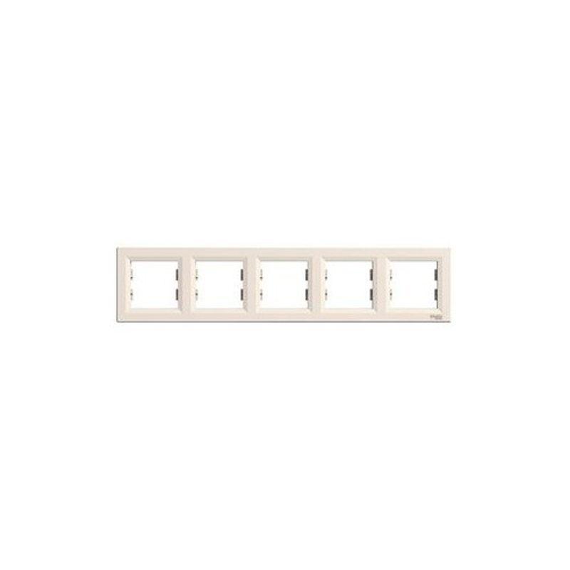 Рамка 5-я Schneider-Electric Asfora горизонтальная (крем) EPH5800523