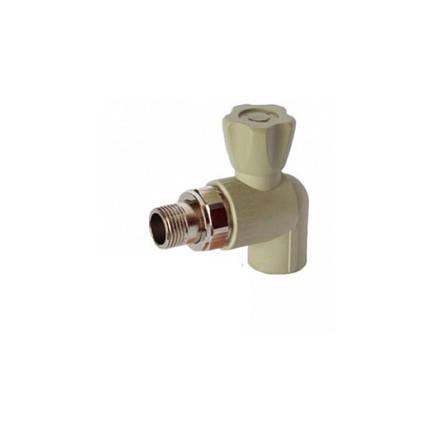 Кран радиаторный угловой Итал 25х3/4, фото 2
