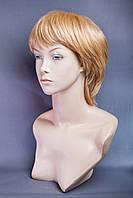 Натуральный парик №16, Цвет рыжий с золотистый с блондом