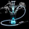 Стеклянный Led кальян со светодиодной подсветкой Noblest Art cиликоновым шлангом, 36 см (LY31138)