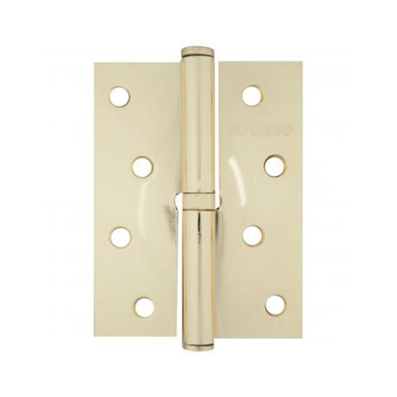 Петля дверная левая (100х75 мм) латунь PB