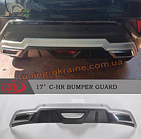 Передняя и задняя накладки на Toyota C-HR 2016+