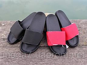 Шлепанцы мужские черные / красные на липучке ATHLETIC Атлетик, фото 3