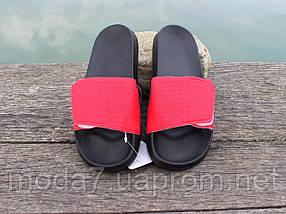 Шлепанцы мужские черные / красные на липучке ATHLETIC Атлетик, фото 2