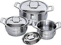 Набор посуды (Набор кастрюль) 6 пр. BartonSteel BS-6556