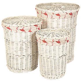 """Набор корзин для белья """"Фламинго"""" 3 шт., 058PV"""