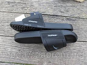 Шлепанцы мужские черные ATHLETIC Атлетик, фото 3