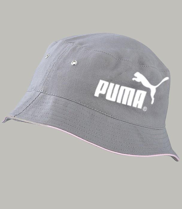 Панама летняя PUMA, серая ПУМА как оригинал