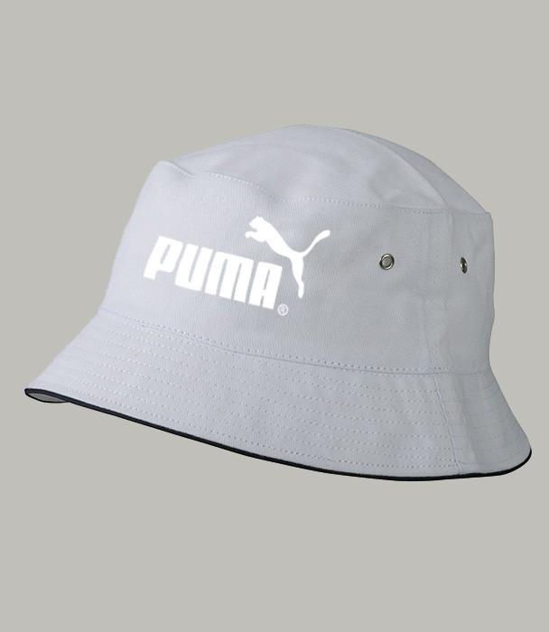 Панама летняя PUMA, белая ПУМА как оригинал