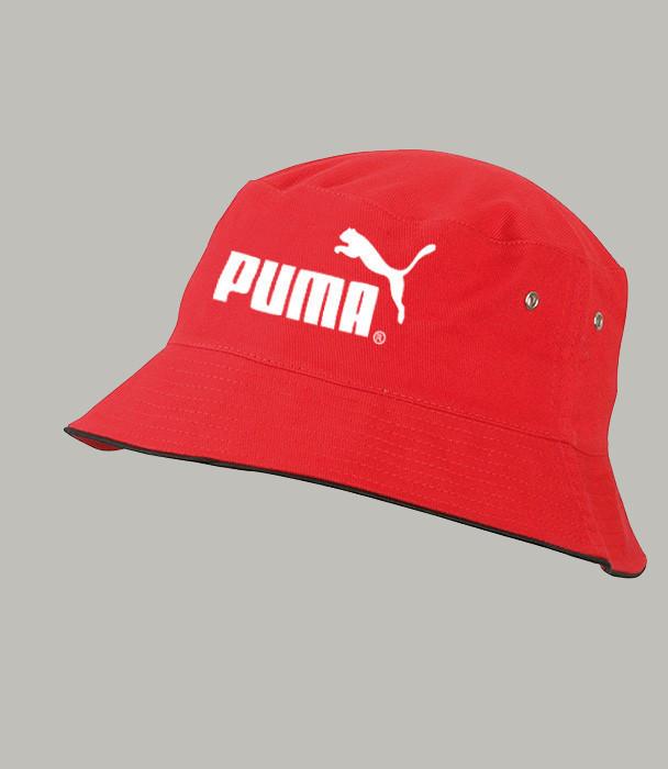 Панама летняя PUMA, красная ПУМА как оригинал