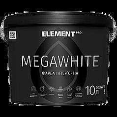 Краска ультрабелая латексная Element PRO Megawhite 10 л