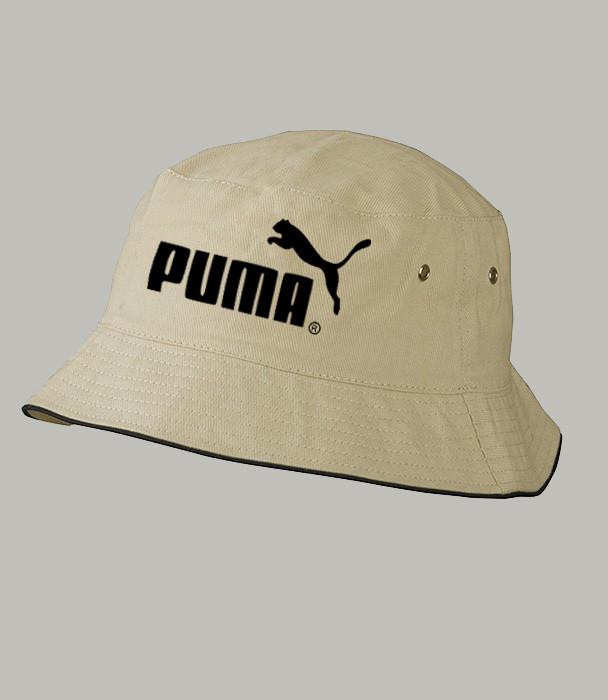 Панама летняя PUMA black , коричневая  ПУМА как оригинал