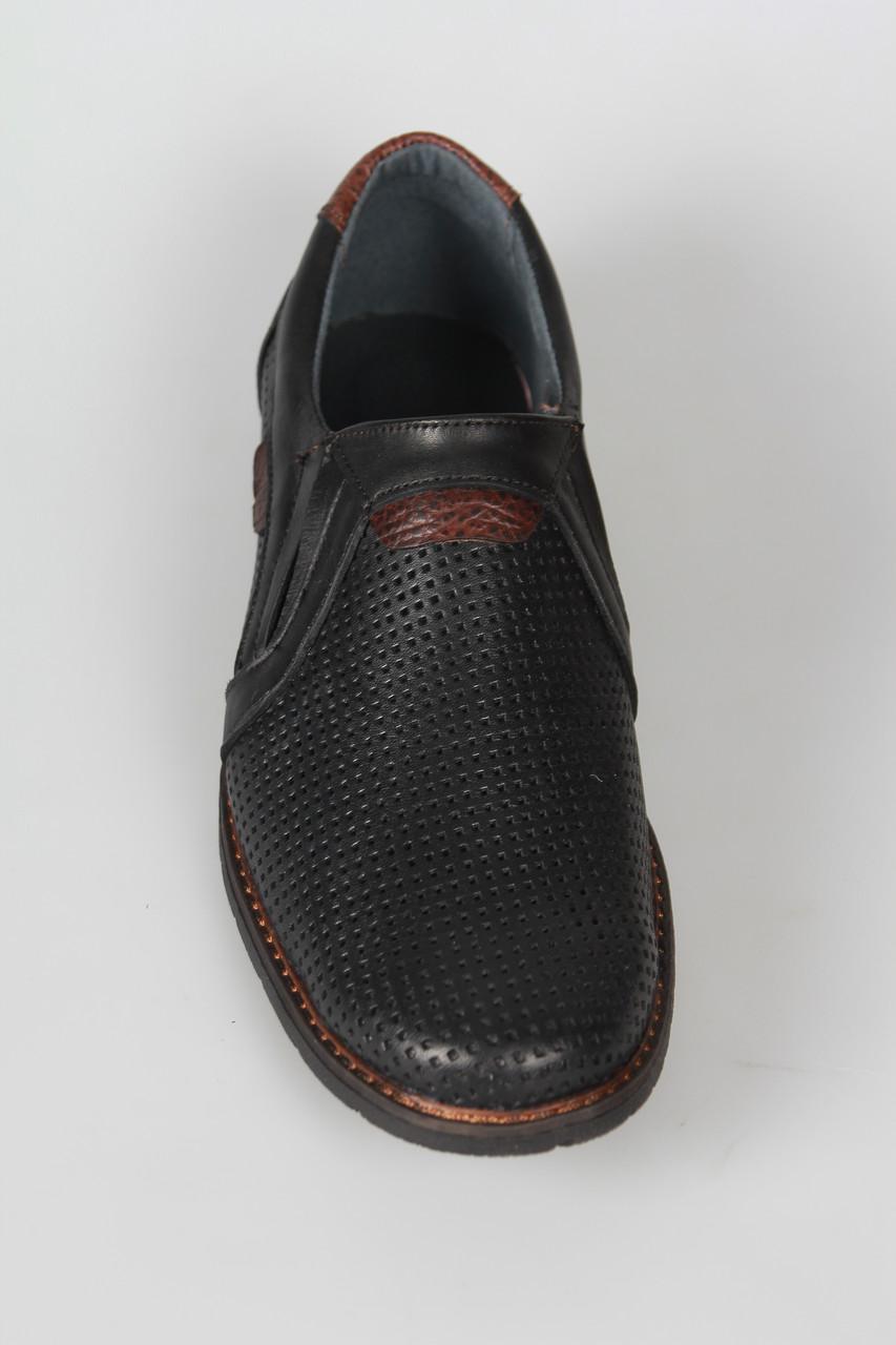 Летние мужские туфли из натуральной кожи