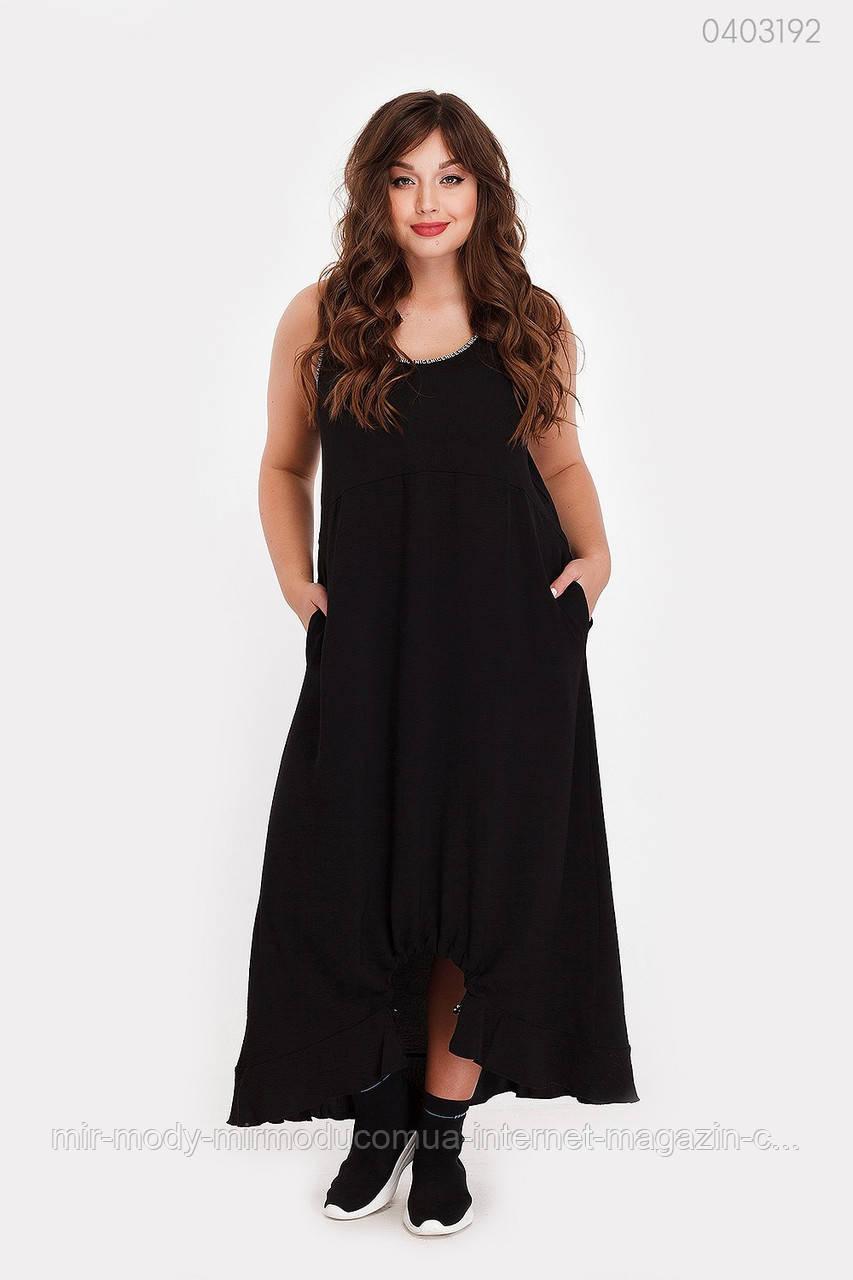 Платье Эквадор (чёрный) (2 цвета) с 50 по 56 размер  (рин)