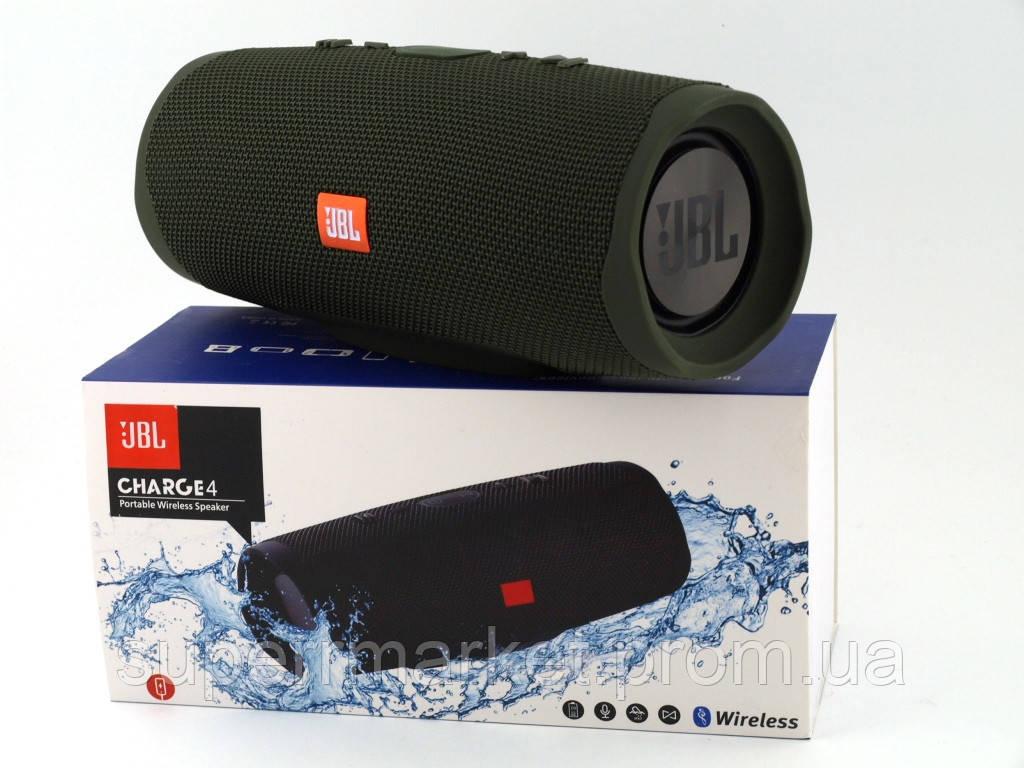 JBL Charge 4+ 20W AAA TOP реплика, портативная колонка с Bluetooth FM MP3, зеленая