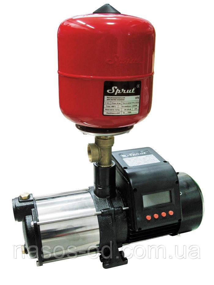 Насосная станция водоснабжения Sprut AUMRS 4 Aqua для дома 0.95кВт Hmax45м Qmax90л/мин 4л