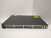 Коммутатор б/у Cisco Catalyst C3750V2  (WS-C3750V2-48TS-S)