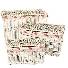 """Набор корзин для белья """"Фламинго"""" 3 шт., 056PV"""