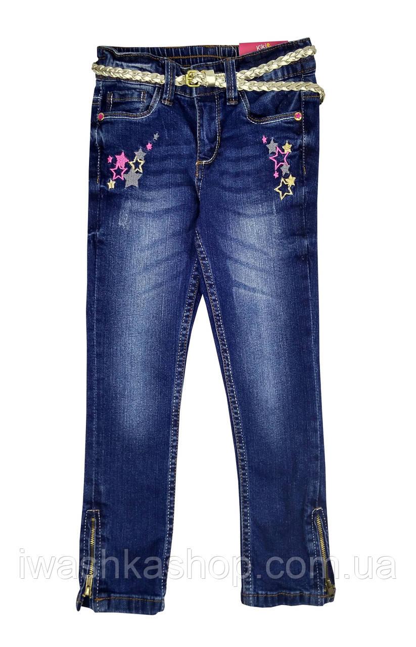 Стильные джинсы slim fit  с поясом на девочку 2 - 3 лет, р. 98, Kiki&Koko / KIK