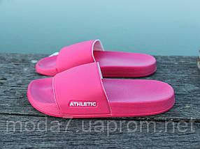 Шлепанцы женские розовые Athletic Атлетик оригинал, фото 2
