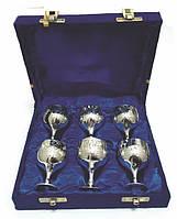 Рюмки бронзовые посеребренные (набор 6 шт./30 мл)